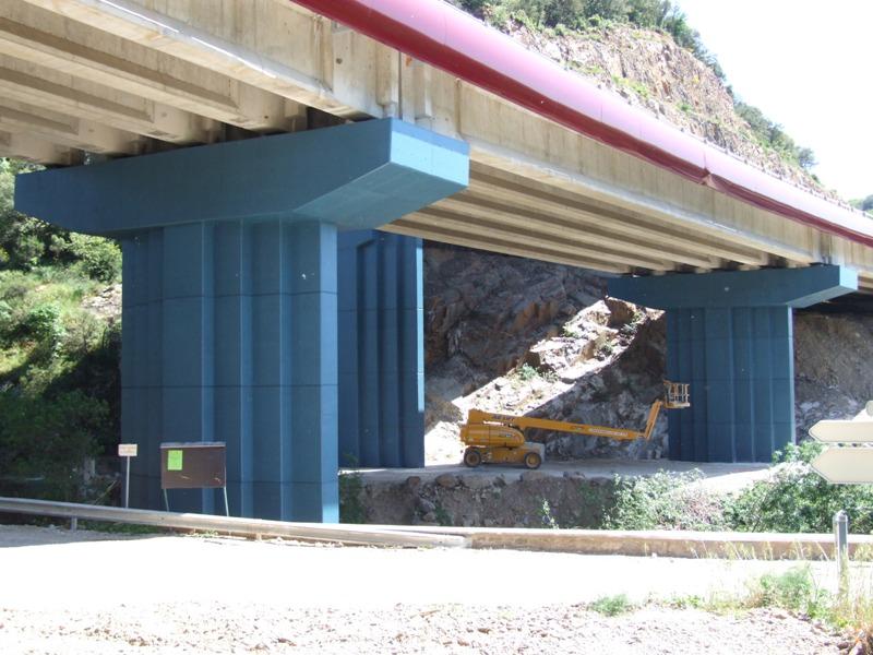 Sofaper - Viaduc de Fozieres à Lodeve ( Herault ) Lasure Béton Pieri
