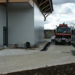 Sofaper chantier de la salle polyvalente de methet lasure prelor 3 sur beton 24
